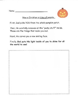 """How a Christian is Like a Pumpkin"" Poem"