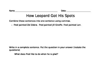 How a Leopard Got His Stripes