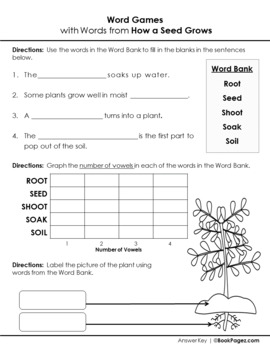 How a Seed Grows Lesson Plans & Activities Package, First Grade (CCSS)