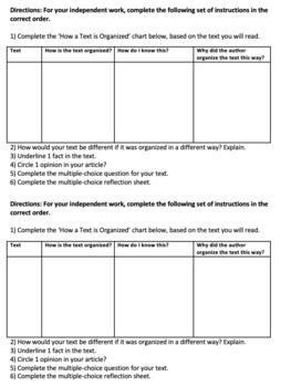 How a Text is Organized - ELA Test Prep