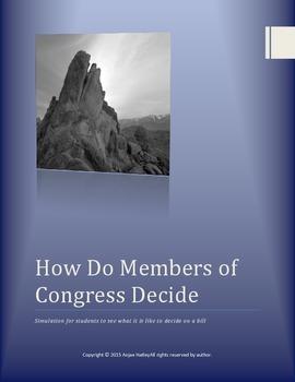 How a member of Congress decides Simulation