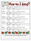 How am I Doing Discipline Sheet for Early Elementary Red Y