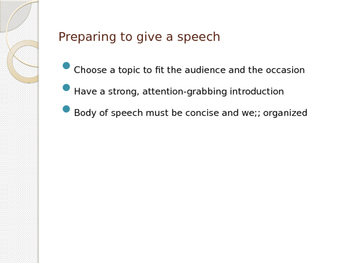 How am I Supposed to Give a Speech??