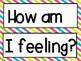 How am I feeling? pocket chart graph