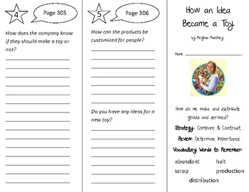 How an Idea Became a Toy Trifold - 3rd Grade Literacy by Design Theme 9