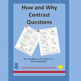 How and Why Question Contrast Cards