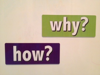 How? and Why? question word magnets