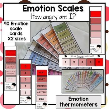 How happy, mad, sad and angry am I? 180 Autism emotion and feelings scales.