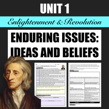 How are Ideas and Beliefs an Enduring Issue?
