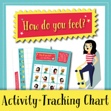Feelings Check-in: Activity and Daily Tracking Chart (English)