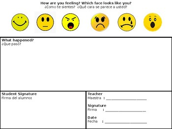 How are you feeling? Behavior Intervention - English & Spanish