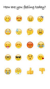 How are you feeling sign ((with emojis!!))
