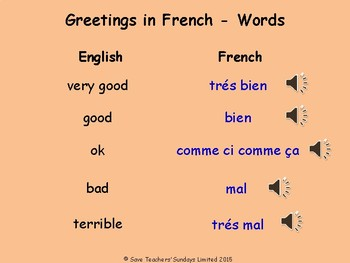 How are you? in French Lesson plan, PowerPoint (with audio) & Worksheet