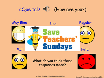 How are you? in Spanish Lesson plan, PowerPoint (with audi