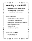 How big is the BFG? A Math and Literature Integration Project