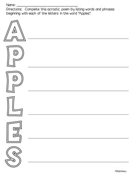 How 'bout Them Apples Apple Themed Language Game and Worksheets