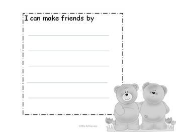 How can I make friends - -Writing