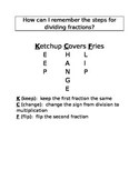 How can I remember the steps for dividing fractions MNEMONIC