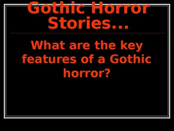 gothic horror stories written by students