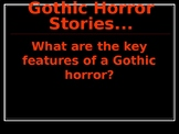 How do I write my own Gothic horror story?  Full informative slideshow and tasks