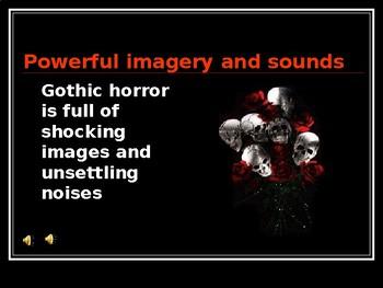 How do I write my own Gothic horror story?  Full informative slideshow and tasks