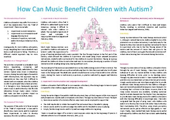 How can Music Benefit Children with Autism