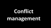 How can we manage conflicts?