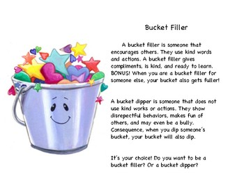 How can you be a bucket filler?