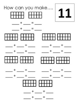 How can you make a number.. (with 10 frames 1-20)
