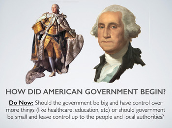 How did American government begin? (Government - Lesson 1.2)