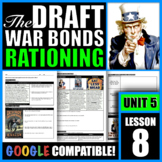 How did Americans support World War I? (Military Draft, Ra