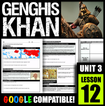 How did Genghis Khan build the Mongol Empire?