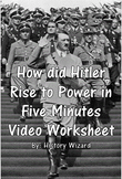 How did Hitler Rise to Power in Five Minutes Video Worksheet