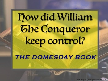 How did King William use the Domesday Book to control the