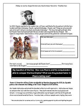 How did Pizarro conquer the Incas?