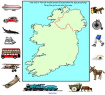 How did St Patrick travel around Ireland?