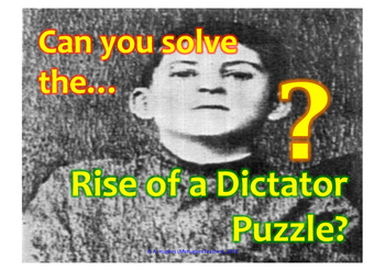 How did Stalin become a dictator Cryptogram puzzle.