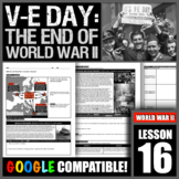 How did World War II conclude in Europe and America?