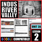 How did civilization develop in the Indus River Valley?