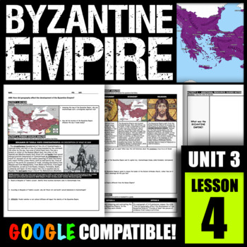 How did geography affect the development of the Byzantine Empire?