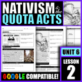 How did nativism shape U.S. immigration policies during th