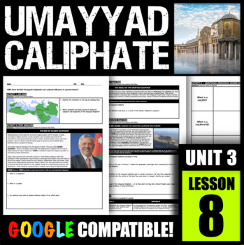 How did the Umayyad Caliphate use cultural diffusion to spread Islam?