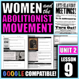 How did the abolitionist movement lead to the early women'