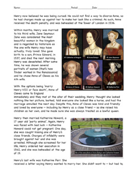 How did the reign of King Henry VIII challenge society?