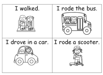 How did you get to school graphing and reading activity