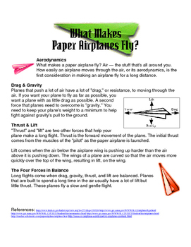 How do Airplanes Fly? What makes paper airplanes fly?