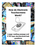 How do Electronic Touchscreens Work? Reading Passage and TEI type Questions