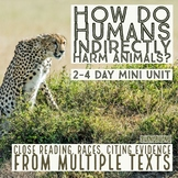 How do Humans Impact Animals? RACES, Close Reading, Multip