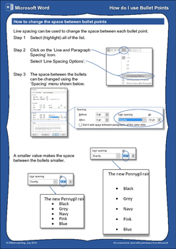 How do I... ...Use Bullet Points (A Microsoft Word Help Sheet/Poster)
