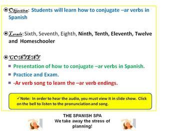 How do I conjugate an ar verb?